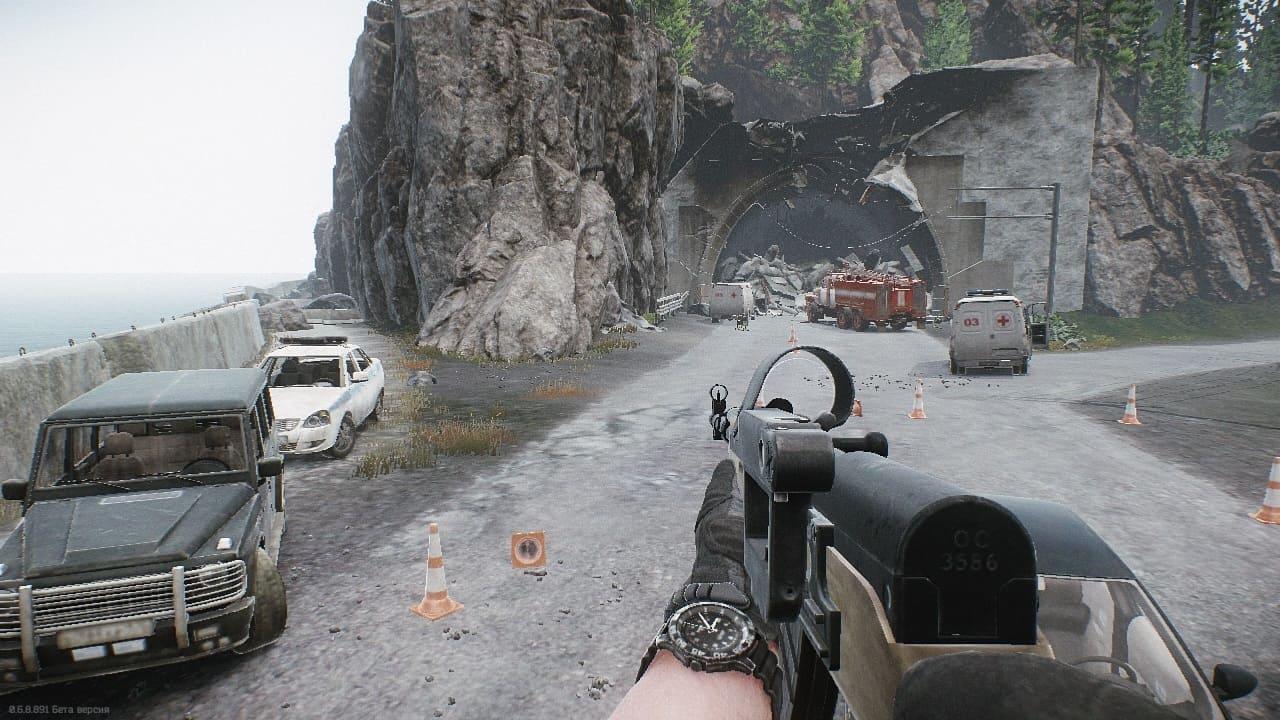 Escape from Tarkov выходы с локации Берег через туннель