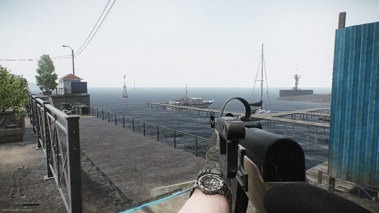 Escape from Tarkov выходы с локации Побережье (Лодка на причале)