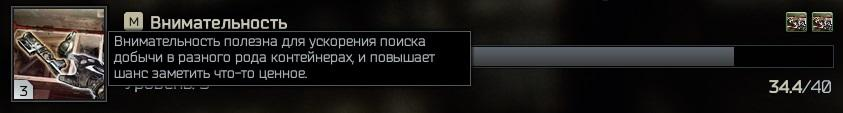 Внимательность Escape from Tarkov