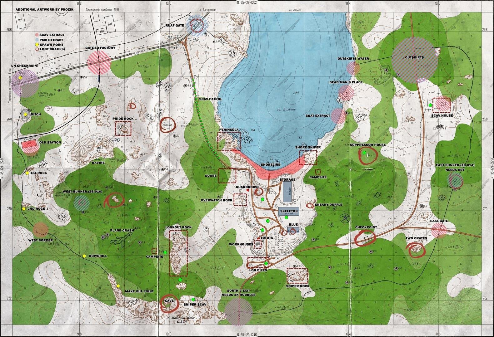 Escape From Tarkov карты