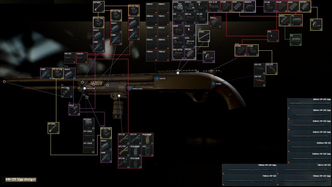 Escape from Tarkov оружие mp-133/153