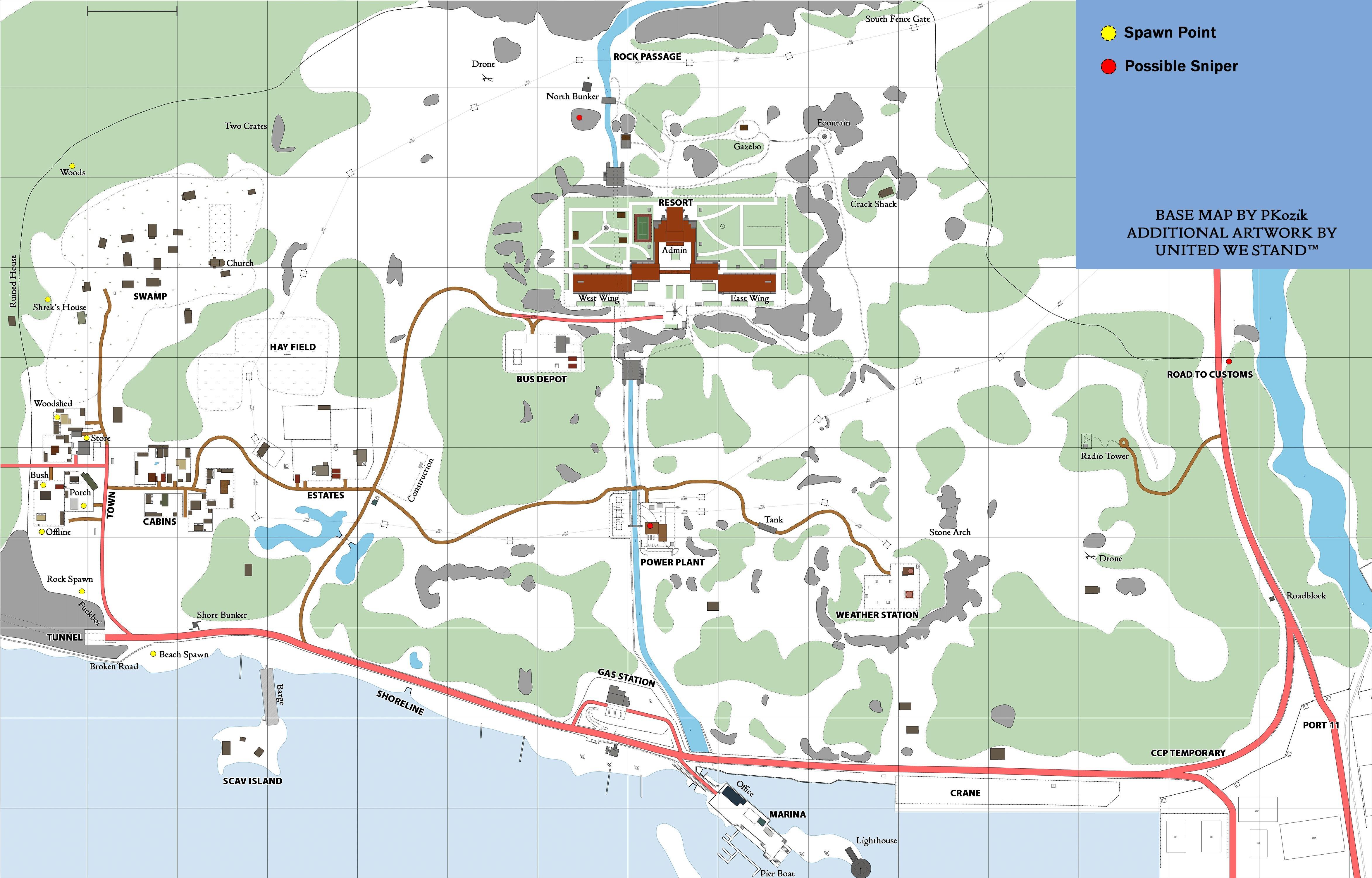 Escape From Tarkov карта Побережья