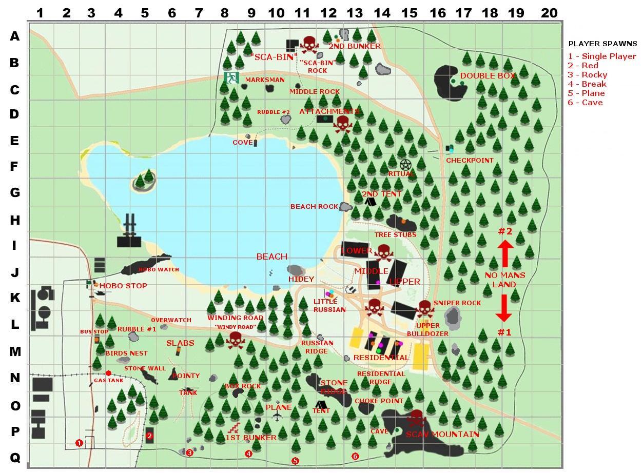Escape From Tarkov карта Леса