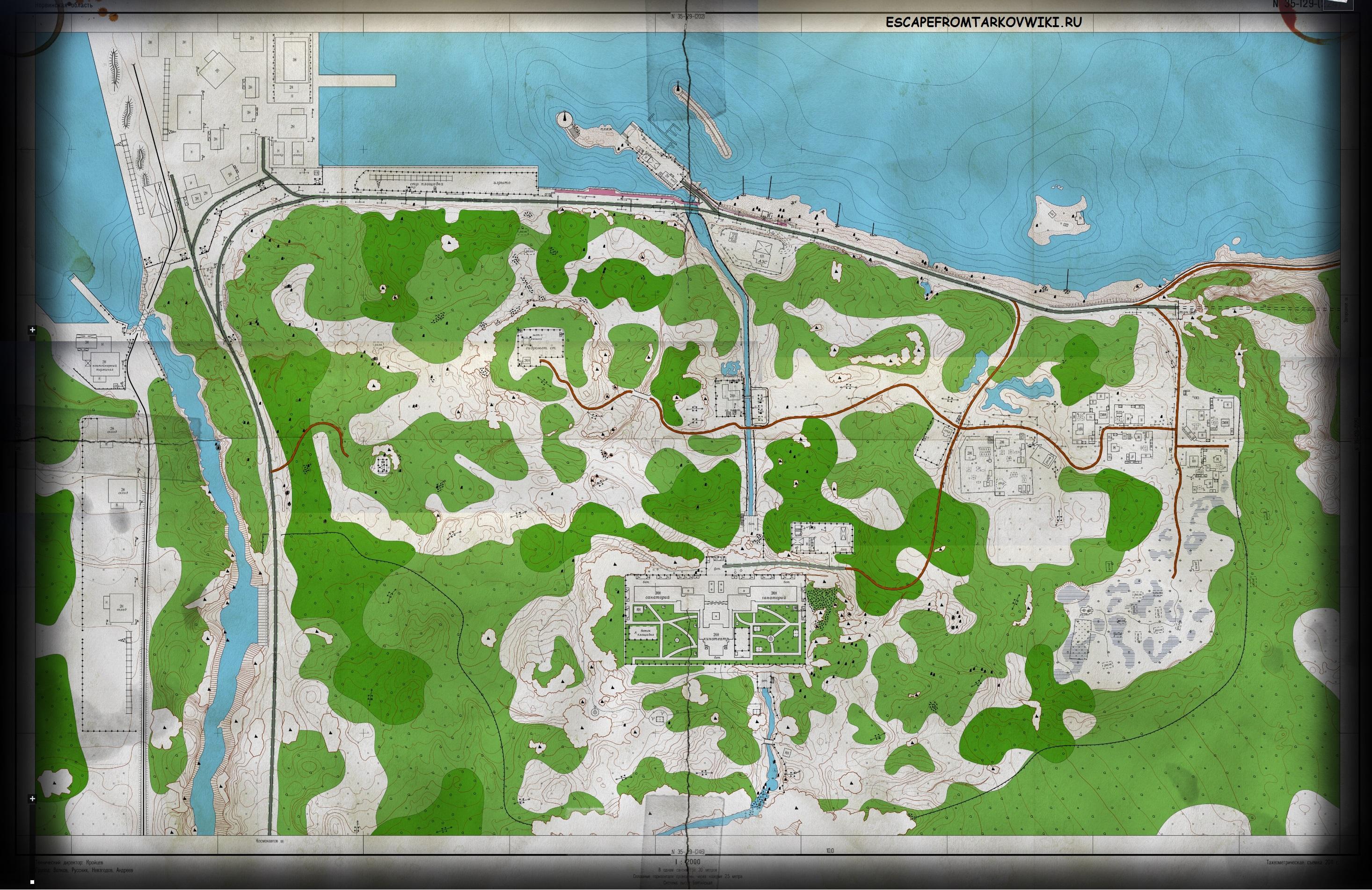 игровая карта берега escape from tarkov